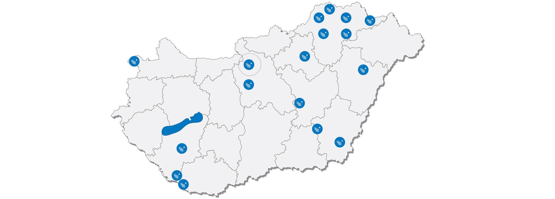<b>Szociális és fejlesztő központjaink</b> - Regionális központjainkon keresztül 17 településről több mint 80 szolgáltatással segítjük a rászorulókat