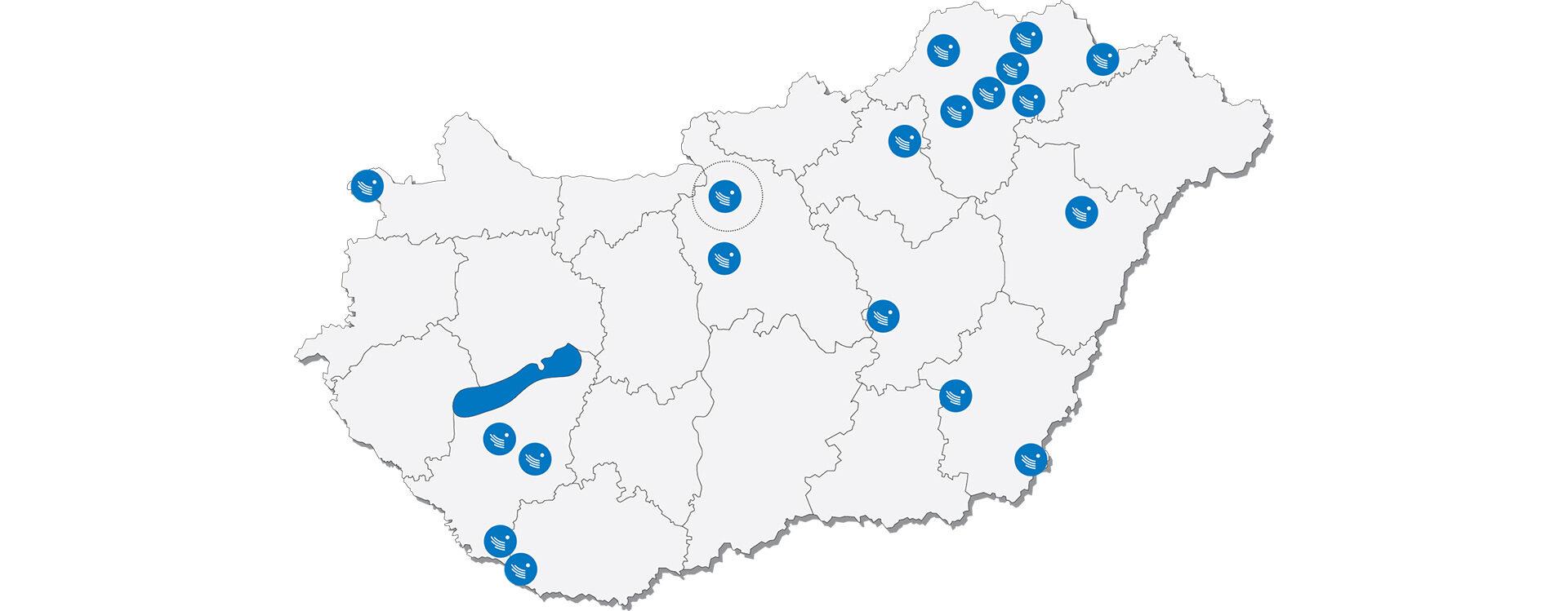 <b>Szociális és fejlesztő központjaink</b> - 19 településről közel 100 szolgáltatással segítjük országszerte a rászorulókat