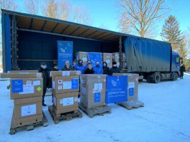 Medical ventilators delivered to Mariupol, Ukraine