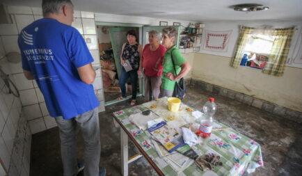 18 árvízkárosult család otthonának helyreállítását segíti a Segélyszervezet Szilvásváradon és Nagyvisnyón