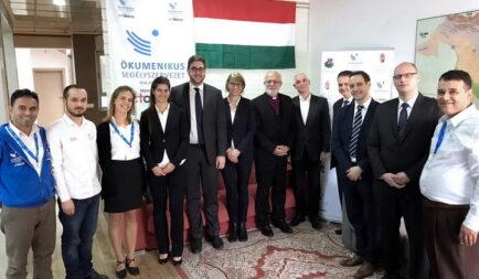 Miniszteri látogatás a segélyszervezet humanitárius képviseletén Irakban
