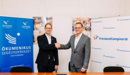 20 millió forinttal támogatja a FrieslandCampina Hungária Zrt. a Segélyszervezet munkáját